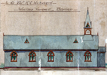 Elevation of the mission church 1905 [P22/2/2/1]